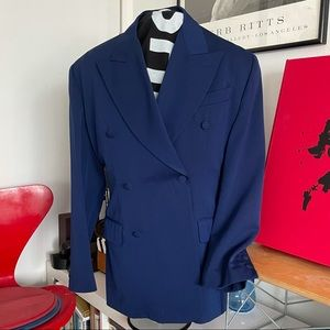 JEAN-PAUL GAULTIER Mens Cobalt Blue Jacket